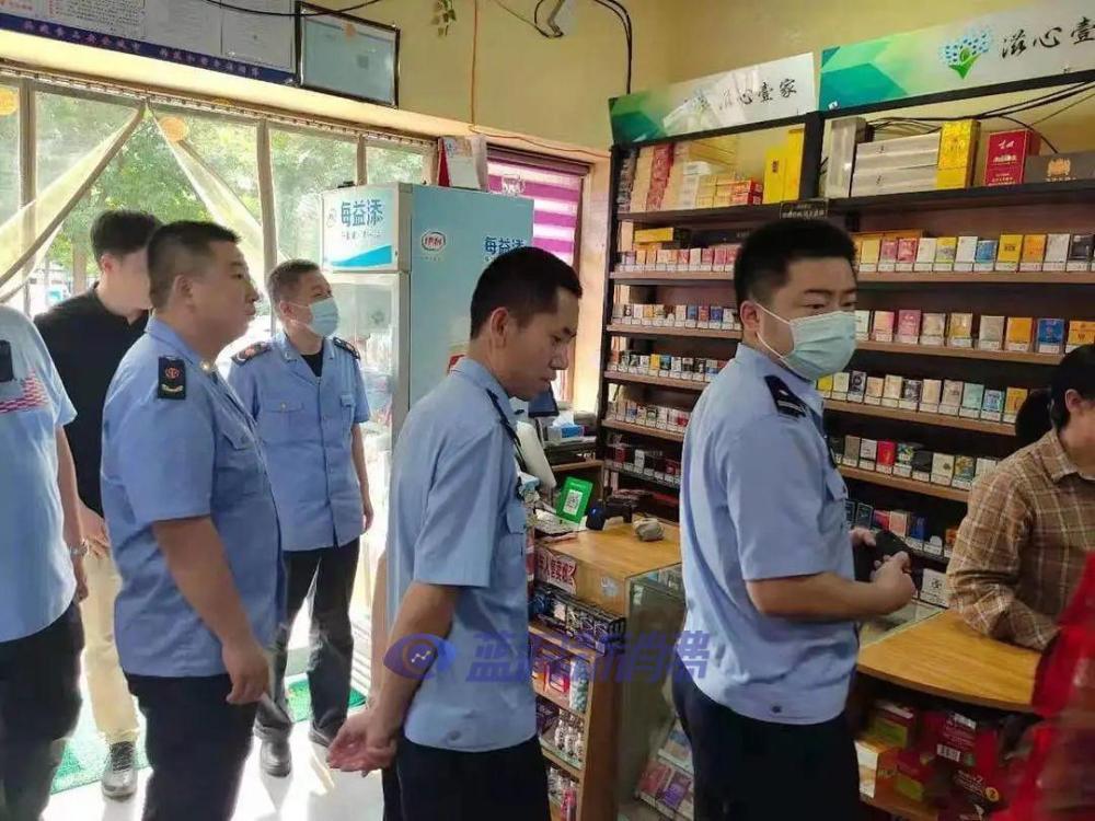 马尚监管所开展联合执法 整治校外电子烟