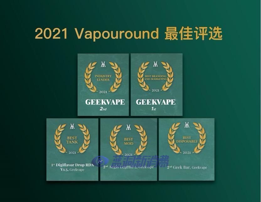 基克纳斩获Vapouround Awards 2021 Winners多个奖项